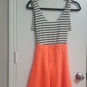 Neon Coral/orange Dress